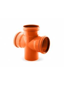 Крестовина для наружной канализации 110/110/110 х87 РосТурПласт (Крестовина нар. 110х110х110х90)