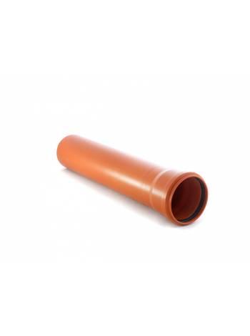Труба канализационная наружная 110х2000мм. SN2 РосТурПласт (труба нар. (рыжая) 110х2000 мм)