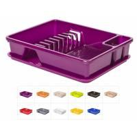 Сушилка для посуды с поддоном 30х40 см, DRINA (цвета в ассортименте)
