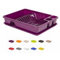 Сушилка для посуды с поддоном 33х43 см, DRINA (цвета в ассортименте)