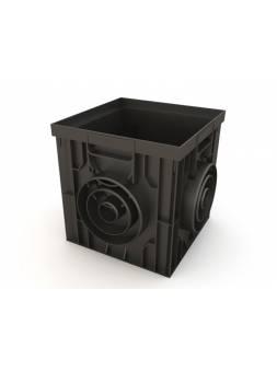 Дождеприемник пластиковый 300х300 (черный), РБ (Дополнительные элементы: Корзина, Перегородка 2 шт, Надстройка, Решетка) (ecoteck)