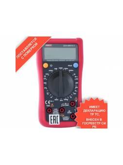 Мультиметр цифровой UNI-T ZEN-MM10-3 (Прибор измерять напряжение переменного и постоянного тока, силу тока, сопротивление, температуру)