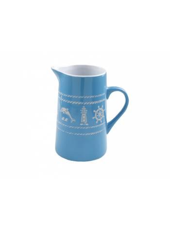 Кувшин керамический, 1050 мл, Морская история, голубой, PERFECTO LINEA (Функционал+декор)
