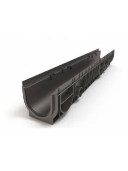 Лоток MEDIUM 100.125 h145 пластиковый, РБ (Дополнительный элемент: Решетка MEDIUM) (ecoteck)