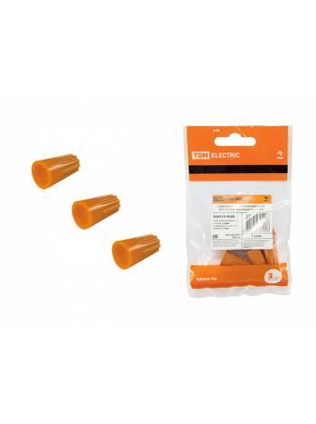 Зажим соединительный изолирующий СИЗ-3 5,5 мм2 оранжевый (5 шт) TDM (Покупай выгодней  по цене-  арт  SQ0519-0008  - 50 шт уп)