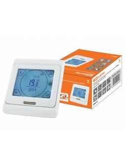 Термостат для теплых полов электронный сенсорный ТТПЭ-2 16А 250В с датчиком 3м TDM