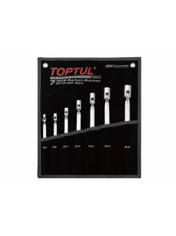Набор ключей торцевых шарнирных 6-19мм 7пр. (черное полотно) TOPTUL (GPAQ0701)