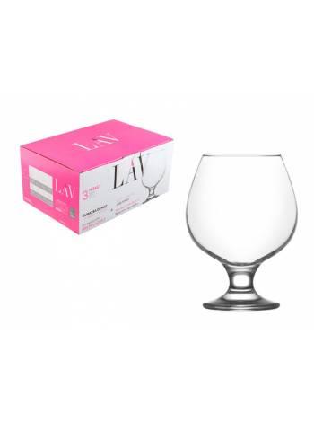 Набор бокалов для бренди, 3 шт., 390 мл, серия Misket, LAV (также используется в HoReCa)