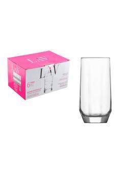 Набор стаканов, 6 шт., 385 мл, серия Diamond, LAV