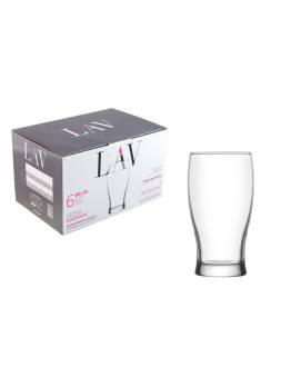 Набор стаканов для пива, 6 шт., 380 мл, серия Belek, LAV