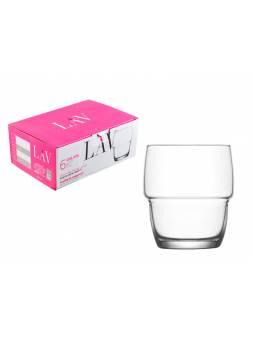 Набор стаканов для виски, 6 шт., 285 мл, серия Galata, LAV (так же используется в HoReCa)