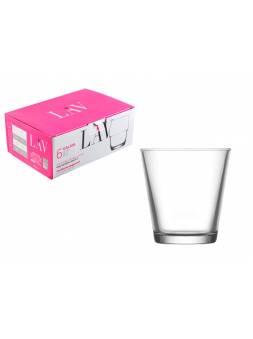 Набор стаканов для виски, 6 шт., 255 мл, серия Hera, LAV