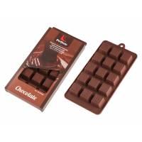 Форма силиконовая, прямоугольная на 15 элементов, 22 х 11.3 х 2 см, PERFECTO LINEA (Супер цена! форма для шоколадных конфет и леденцов)