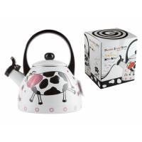 Чайник стальной эмалированный, 2.0 л, серия Happy cows (Счастливые коровы) GEIST (подходит для всех типов плит, включая индукцию)