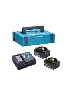 Комплект аккумулятор 18.0 В BL1840B 2 шт. + зарядное устройство DC18RC в кейсе (Набор BL1840B 18V 4,0 Ah 2 шт. + DC18RC) (MAKITA)