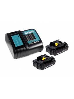 Комплект аккумулятор 18.0 В BL1815N 2 шт. + зарядное устройство DC18SD в кейсе (Набор BL1815N 18V 1,5 Ah 2 шт. + DC18SD) (MAKITA)