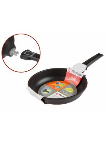 Сковорода ф 24х5.5 см, алюм., антиприг. покр., серия Expert Grip Induction, PERFECTO LINEA (съемная ручка, подходит для всех типов плит, включая индук