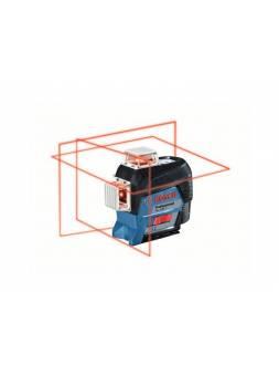 Нивелир лазерный линейный BOSCH GLL 3-80 C со штативом в кор. (проекция: 3 плоскости 360°, до 120 м, +/- 0.20 мм/м, резьба 1/4, 5/8
