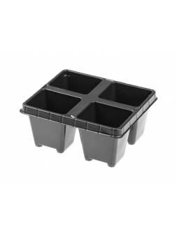Кассета для рассады пластмас, квадратн, 4 ячейки, 100 мл, PERFECTO LINEA (133х114х60 мм)