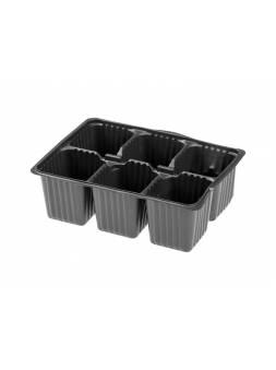 Кассета для рассады пластмас, квадратн, 6 ячеек, 165 мл, PERFECTO LINEA (180х135х60 мм)