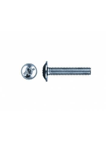 Винт М6х16 мм для мебельной фурнитуры, цинк, кл.пр. 5.8, DIN 967 (100 шт в пласт. конт.) STARFIX