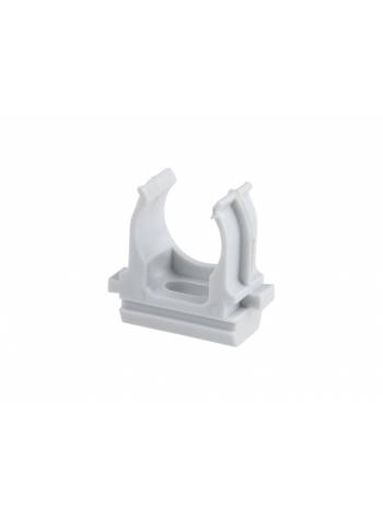 Крепеж-клипса для трубы ПВХ/ПНД 25мм (10шт) ЮПИТЕР