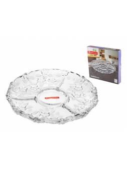 Блюдо 3-х секционное стеклянное, круглое, 310 мм, Карен (Karen), NORITAZEH