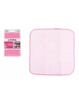 Салфетка кухонная для уборки без царапин Non-Scratch (Нон-Скрэтч), PERFECTO LINEA розовая