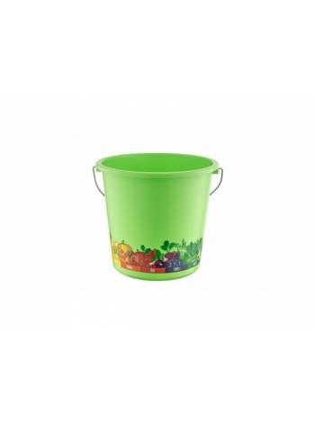 Ведро Vitaline 10 л, салатный, BEROSSI (Изделие из пластмассы. Литраж 10 литров)