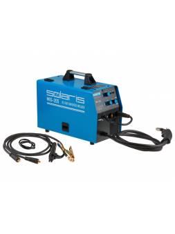 Полуавтомат сварочный Solaris MIG-205 (MIG/MAG/FLUX/MMA) (220В; встроенная горелка 2 м; смена полярности)