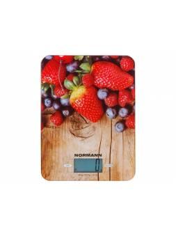 Весы кухонные ASK-270 NORMANN (5 кг; стекло 3 мм; дисплей 45х23 мм)