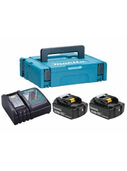 Комплект аккумулятор 18.0 В BL1850B 2 шт. + зарядное устройство DC18RC в кейсе (Набор BL1850B 18V 5,0 Ah 2 шт. + DC18RC) (MAKITA)
