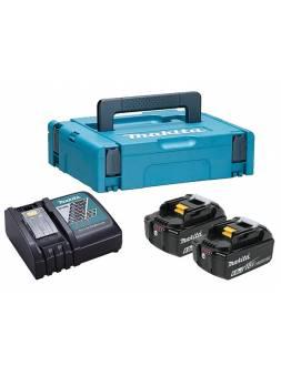 Комплект аккумулятор 18.0 В BL1860B 2 шт. + зарядное устройство DC18RC в кейсе (Набор BL1860B 18V 6,0 Ah 2 шт. + DC18RC) (MAKITA)