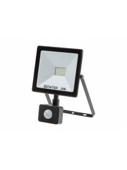 Прожектор светодиодный с датч. движ. 20 Вт 6500K IP64 ЮПИТЕР (1700 лм, холодный белый свет)