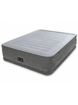 Надувная кровать Queen Comfort-Plush (Квин Комфорт-Плаш), 152х203х46 см, встр.электрич. насос, INTEX