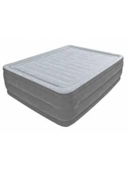 Надувная кровать Queen Comfort-Plush (Квин Комфорт-Плаш), 152х203х56 см, встр. электрич.насос, INTEX