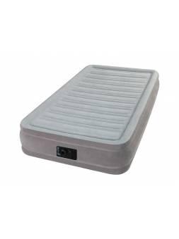 Надувная кровать Twin Comfort-Plush (Твин Комфорт-Плаш), 99х191х33 см, встр. электрич. насос, INTEX