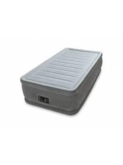 Надувная кровать Twin Comfort-Plush (Твин Комфорт-Плаш), 99х191х46 см,  встр. электрич. насос, INTEX