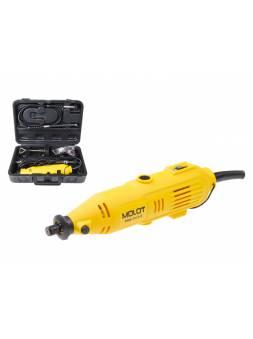 Гравер электрический MOLOT MMG 3215 E в чем. + аксессуары (150 Вт, 8000 - 32500 об/мин, цанга 3.2 мм)