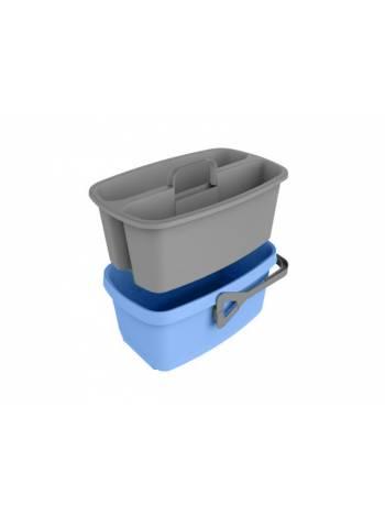 Ведро с емкостью для переноски Smart, васильковый, BEROSSI (Изделие из пластмассы. Размер: 406 х 257 х 223 мм.)