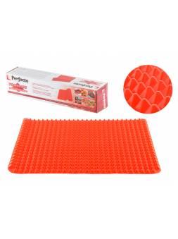 Коврик для выпечки и жарки силиконовый Pyramid Mat (Пирамид Мэт), 40 x 29 см, красный, PERFECTO LINE (PERFECTO LINEA)