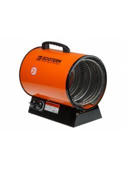 Нагреватель воздуха электр. Ecoterm EHR-09/3C (пушка, 9 кВт, 380 В, 3-хфазный, термостат, 2 года гарантии)