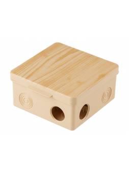 Коробка распаячная ОП 100х100х50мм, сосна, 8 мембр. вх. IP54 ЮПИТЕР