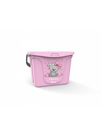 Емкость для игрушек Mommy love (Мамми лав) 6 л, нежно-розовый, BEROSSI (Изд. из пластм. Размер 287 * 200 * 200 мм)