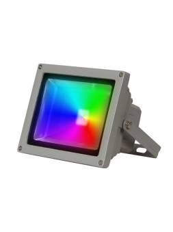 Прожектор светодиодный PFL -RGB-C/GR  20w  IP65Jazzway драйвер в комплекте (Настраиваемый Цветной +пульт  в комплекте. серый корпус)