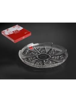 Блюдо стеклянное, круглое, 270 мм, Ватикан (Vatican), SAKURA