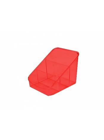 Органайзер для косметики Eva, красный полупрозрачный, BEROSSI (Изделие из пластмассы. Размер 158 х 149 х 131 мм)