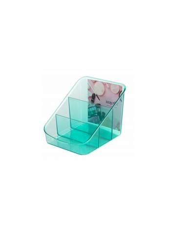 Органайзер для косметики Eva, мята полупрозрачный, BEROSSI (Изделие из пластмассы. Размер 158 х 149 х 131 мм)