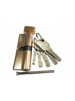 Евроцилиндр с вертушкой DORMA CBR-1 80 (40x40В) латунь (перфорированный ключ)