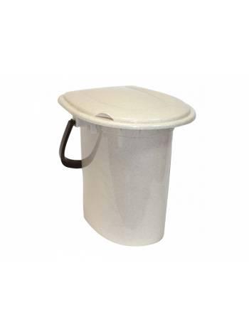 Ведро туалетное 16л (бежевый мрамор) (IDEA)